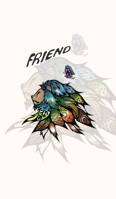 FRIEND -lion and butterfly-