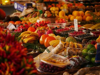 Exposición de productos alimentación