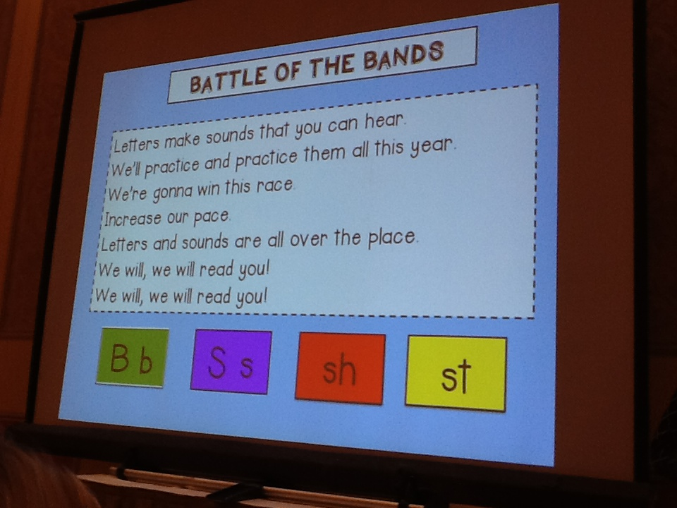 Battle of the Bands Alphabet song