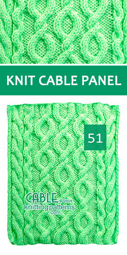 Knit Cable Panel Pattern 51, its FREE