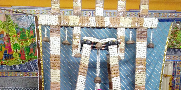 गोवर्धननाथ जी हवेली में प्रतिदिन सायंकाल हो रहे नये कलेवर मे हिण्डोला दर्शन
