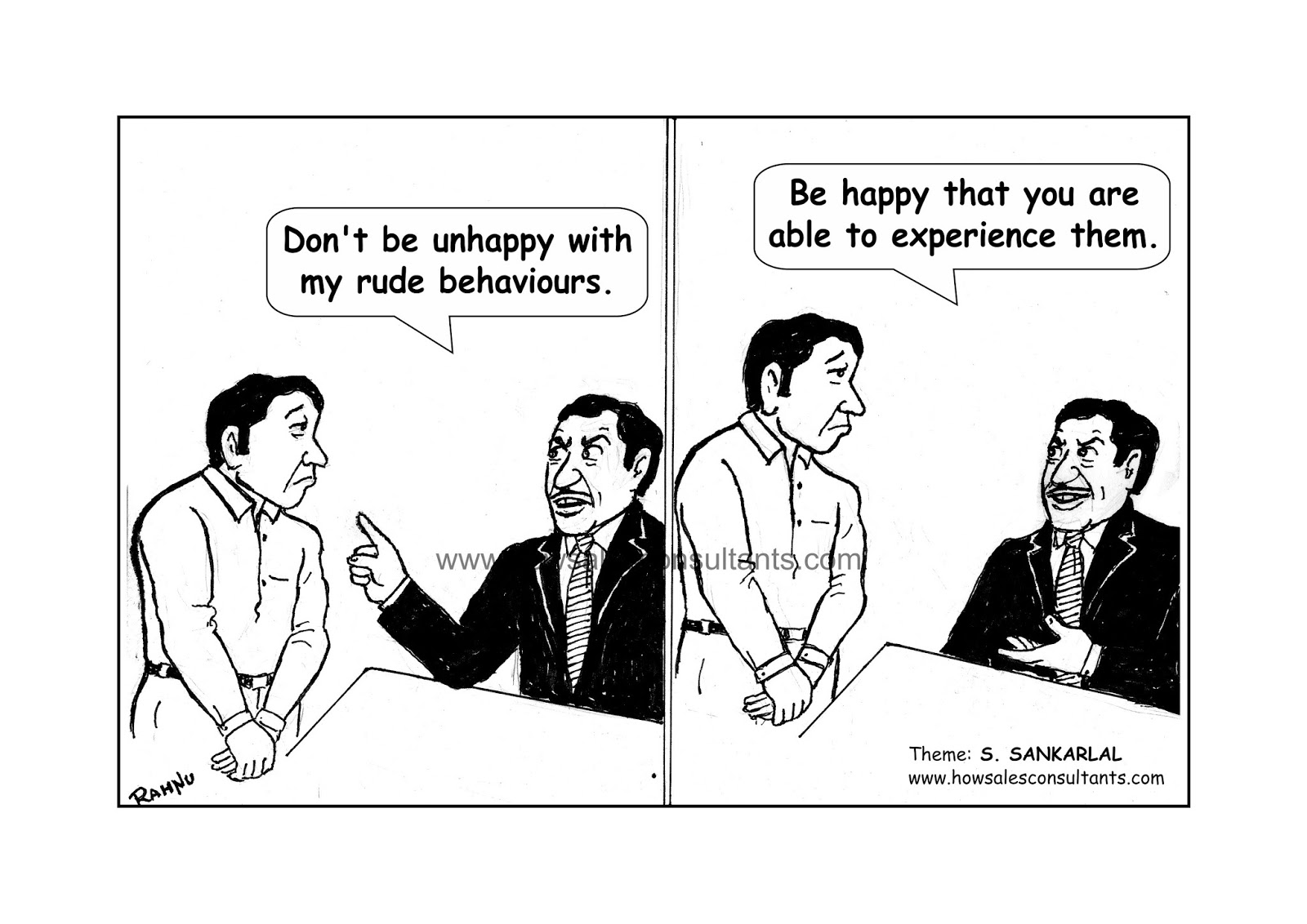 Sankarlal's Cartoons: Taking things positively