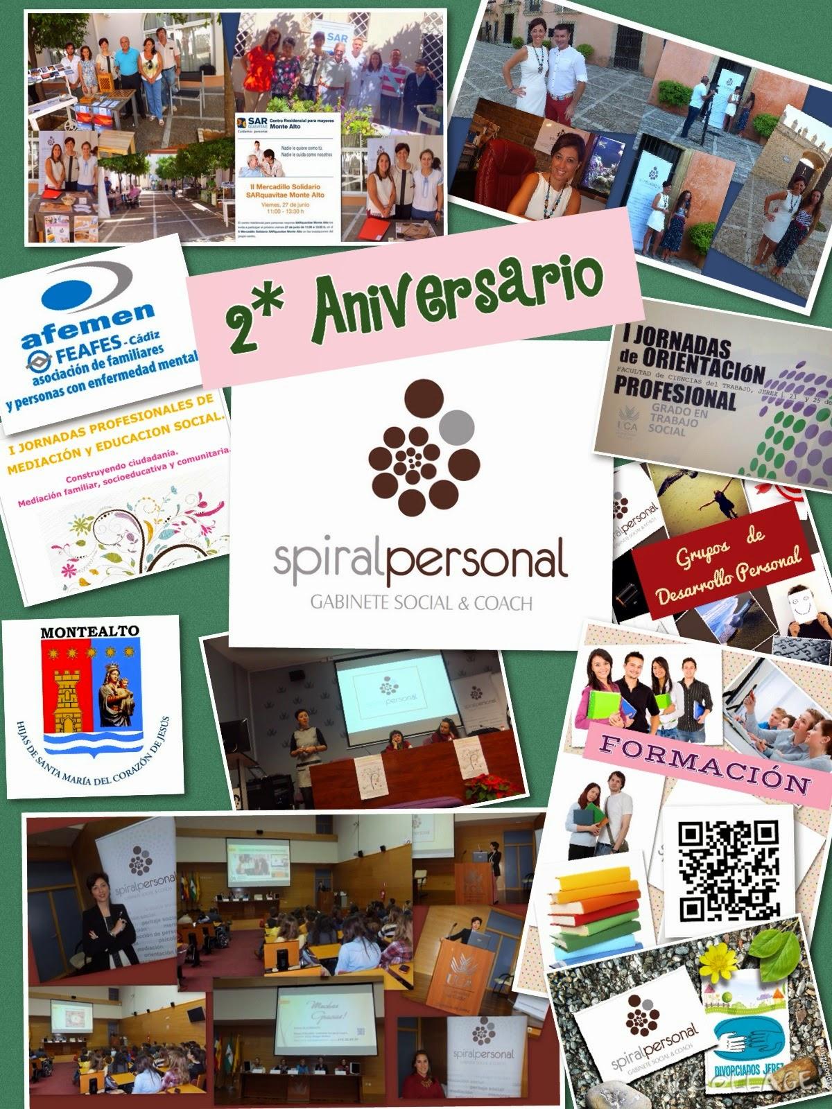 2º Aniversario de Spiral Personal. Gabinete Social & Coach