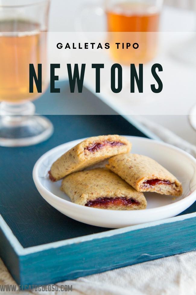 Galletas integrales rellenas de mermelada tipo Newtons vía www.elgatogoloso.com