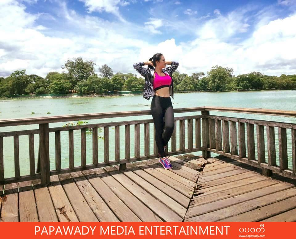 Thinzar Wint Kyaw Fashion, Outfit  and Activity At Shooting on Sunny Day