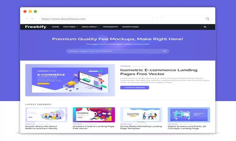 Freebify Responsive Blogger Template - Responsive Blogger Template