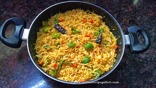Capsicum Rice, Bell Pepper Rice