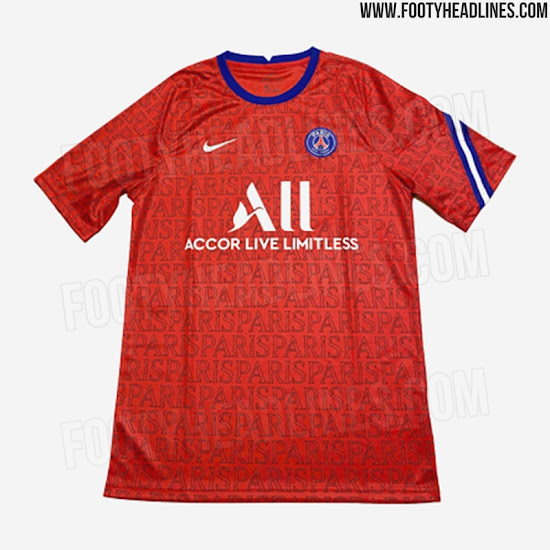 Nike Psg 20 21 Pre Match Shirt Leaked 3 New Pictures Footy Headlines