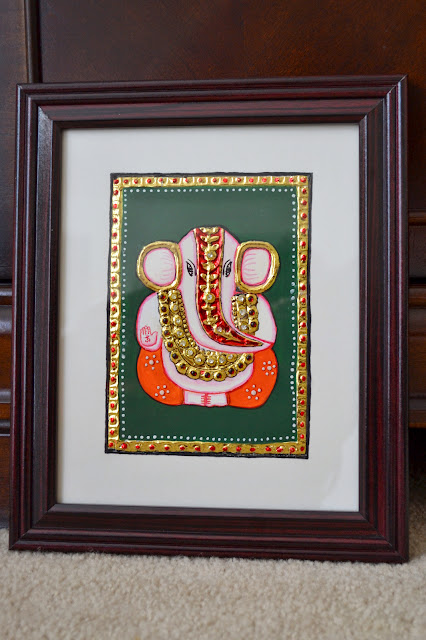 simple small diy ganesh tanjore painting