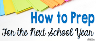 End of the school year prep for next school year.  Save time by planning and prepping now.