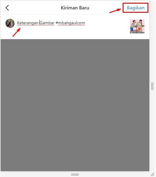 cara upload foto instagram lewat pc