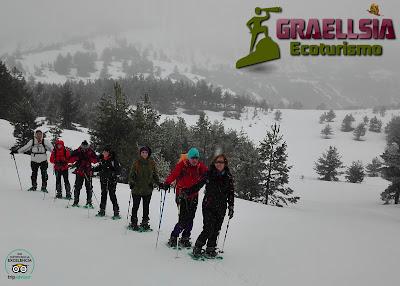 Pico del Lago con raquetas de nieve