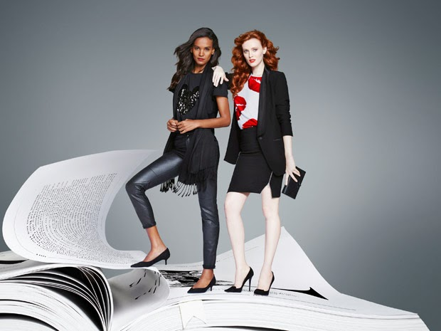 Lindex Christmas 2014 Campaign featuring Karen Elson and Liya Kebede