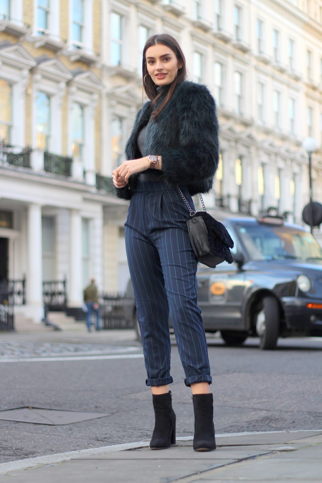 london street style pinstripe trousers peexo