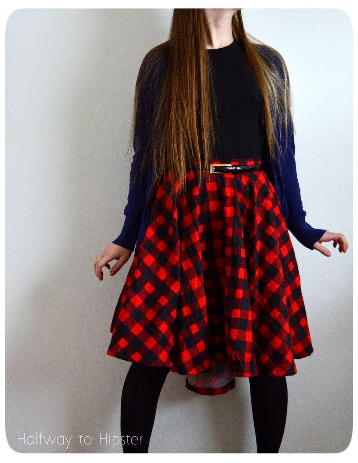 dce7fa30b8d6 Halfway To Hipster: DIY Hi-Lo Circle Skirt