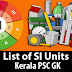 Kerala PSC - List of International System of Units