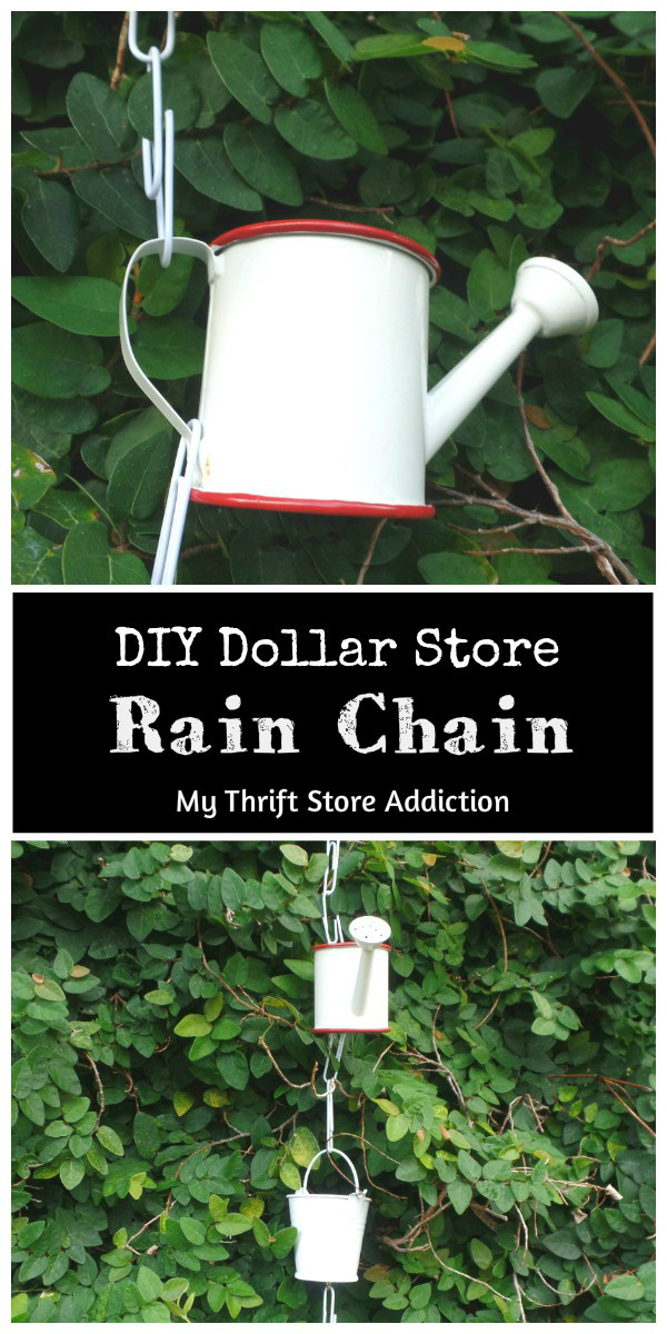 DIY dollar store rain chain