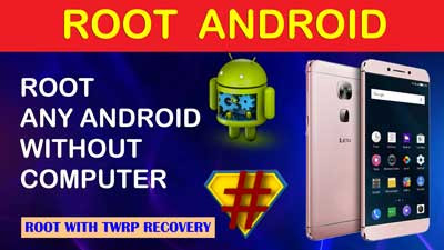 How to root android mobile with TWRP recovery | Root android mobile without computer | Kingo root