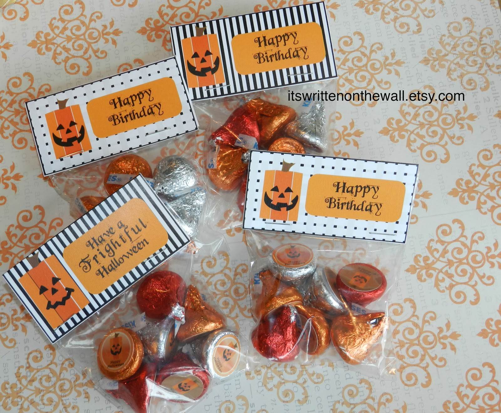Here Are The Smaller Treat Bag Toppers They Measure 3 Across And Fit Nicely On A Wide Clear