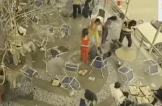 cctv footage of cafe delhi