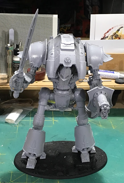 Cerastus Knight-Castigator WIP - fully assembled