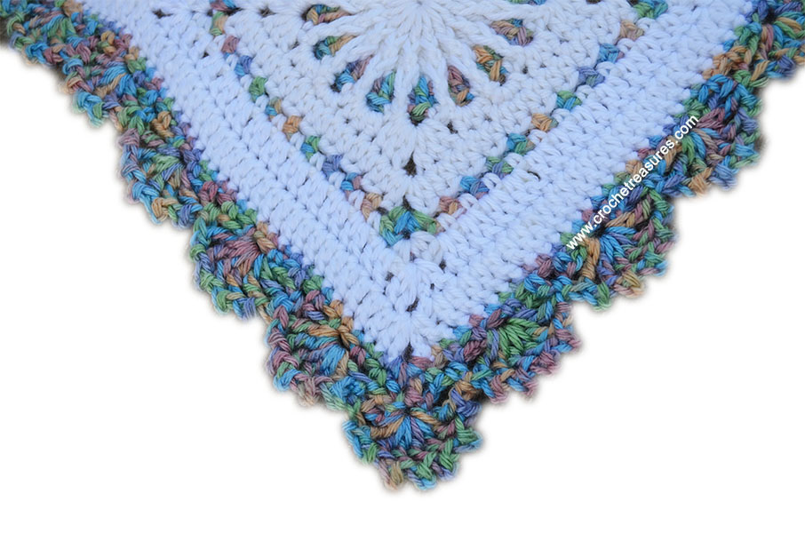 Crochet Treasures White Stained Glass Afghan