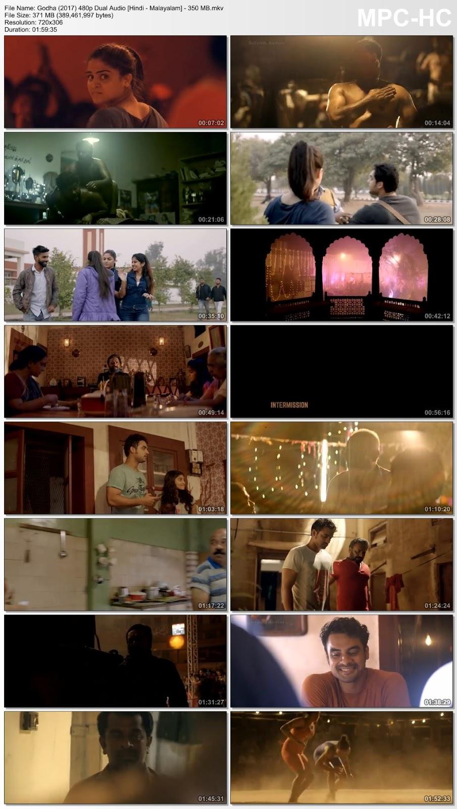 Godha (2017) 480p Dual Audio [Hindi – Malayalam] – 350 MB Desirehub