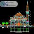 مخطط مشروع مسجد على طريقة التركية كاملا اوتوكاد dwg