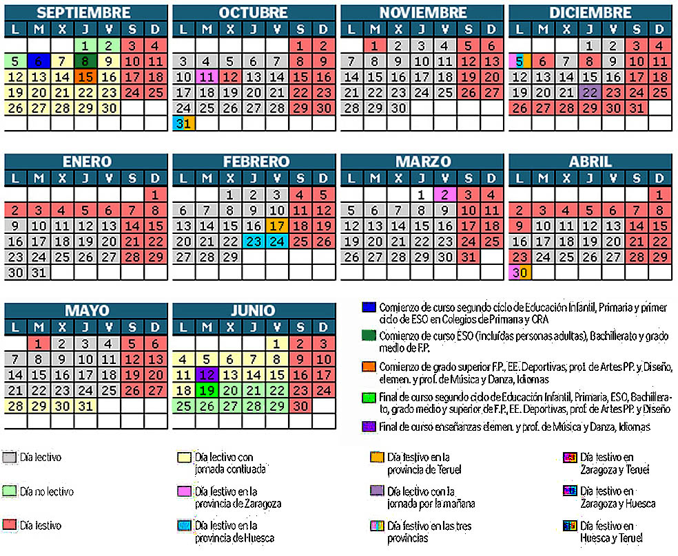 Aragon Calendario Escolar.Calendario Escolar Aragon Watershowspeakers
