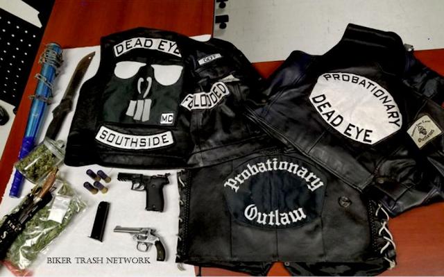 Biker Trash Network • Outlaw Biker News : Dead Eyes MC: Police raid