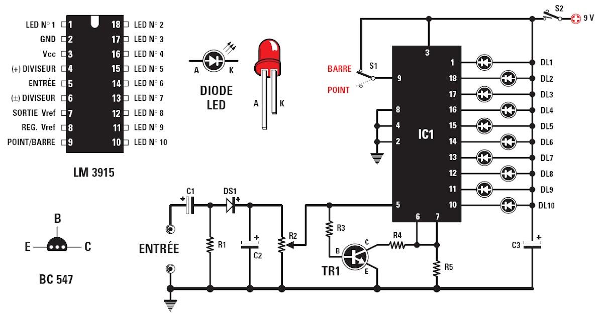 Un Vu-mètre à LED ~ Schema Electronique Net