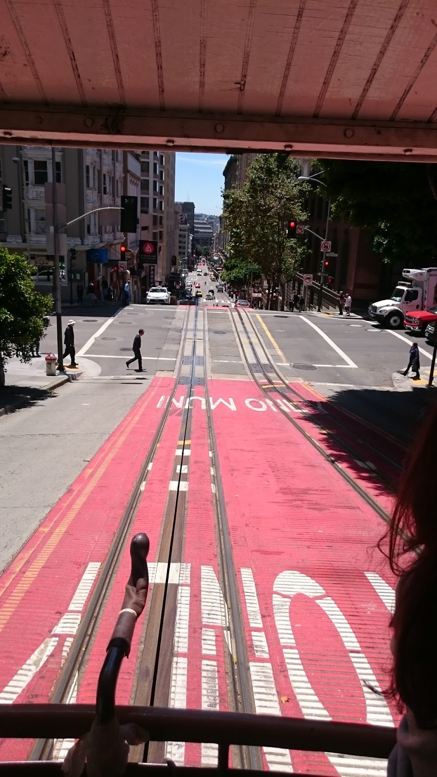 Tram hill views from San Francisco Cable Car