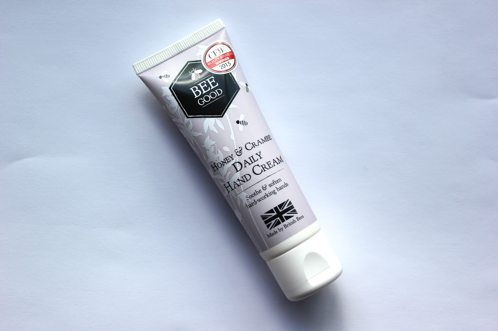 beauty review on the bee good honey and crambe daily hand cream