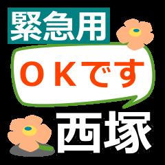 Emergency use.[nishizuka]name Sticker