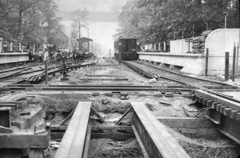 1907: Avenue H Station Looking North from LIRR Tracks