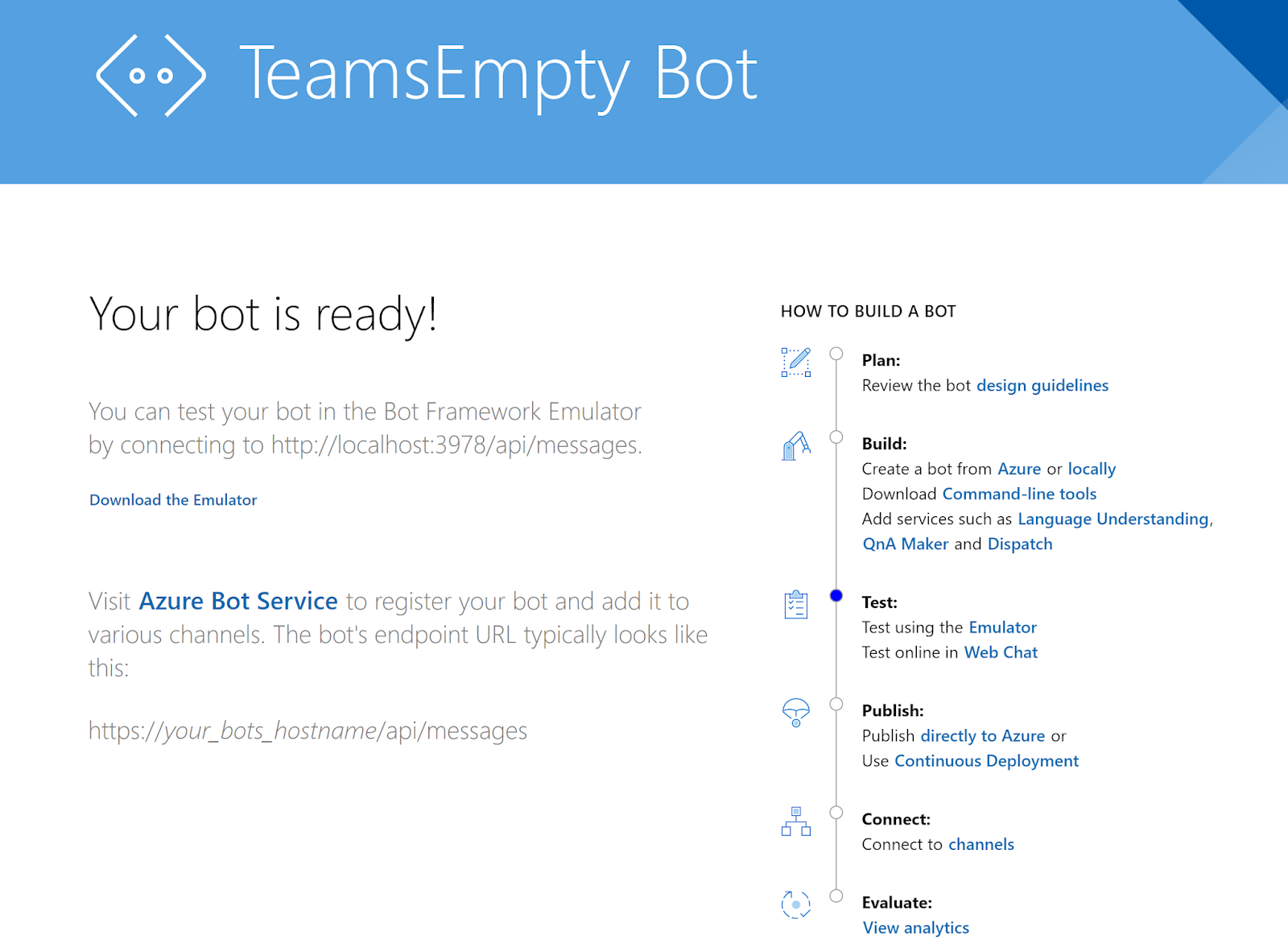Tricky SharePoint: Step by Step: Configure Bot to Work in Teams and