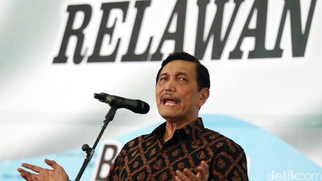 Luhut: Politisasi Rupiah Lemah adalah Bentuk Pengkhianatan pada Negara
