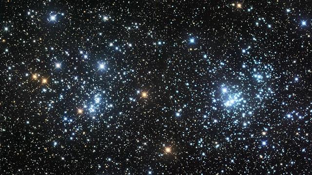 Hai cụm sao mở còn trẻ là NGC 869 và NGC 884, được gọi chung là Cụm sao đôi trong chòm sao Perseus. Hình ảnh: Marc Van Norden/Flickr.