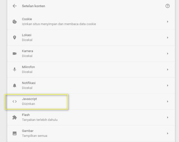 Aktifkan Dan Nonaktifkan JavaScript2