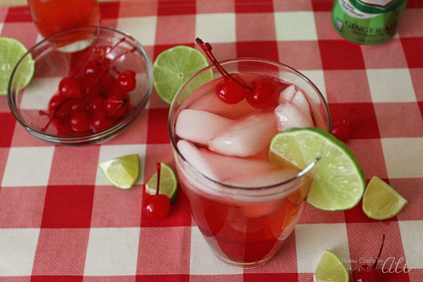 recipe shirley temple drink with lime and maraschino cherries