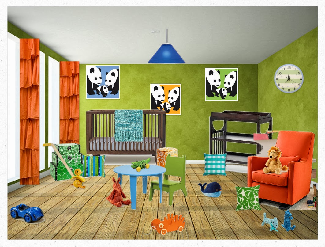 This Room Has Triadic Colors In These Are Opposite On The Color Wheel I Choose Orange Green And Blue