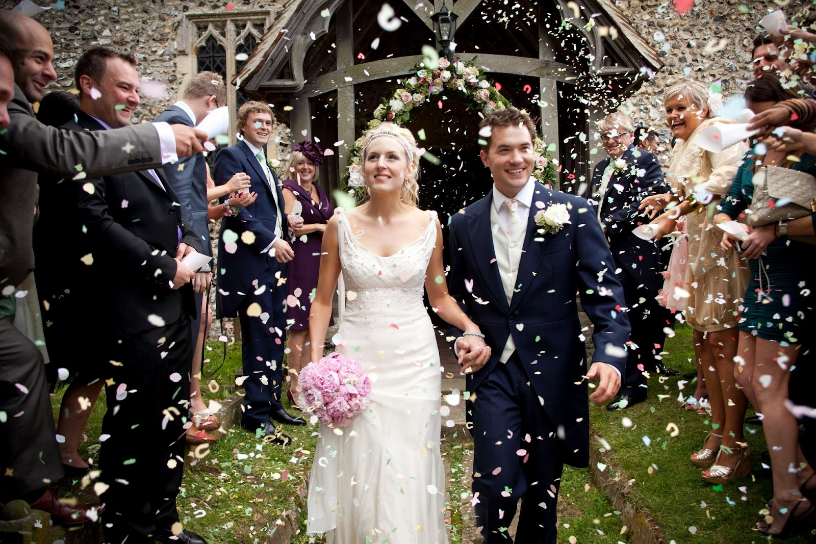 Confetti Flutters To Bring Joy And Luck Your New Life As Man Wife