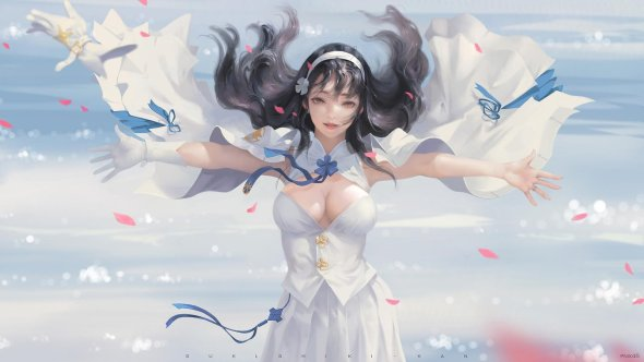 Taejune Kim arte deviantart artstation ilustrações mulheres anime fantasia beleza cotidiano