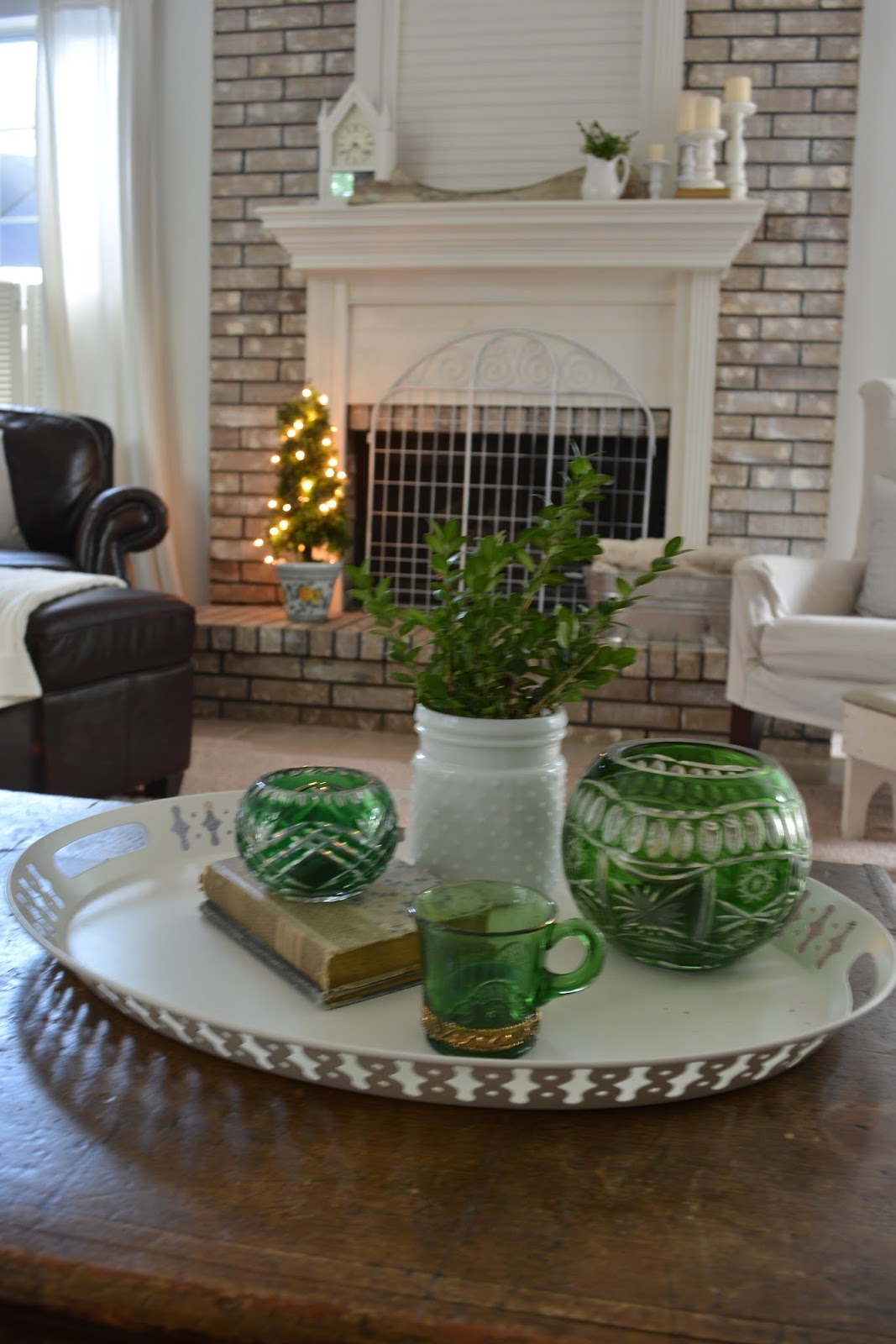 Let's Add Sprinkles Blog, Fireplace, Topiary