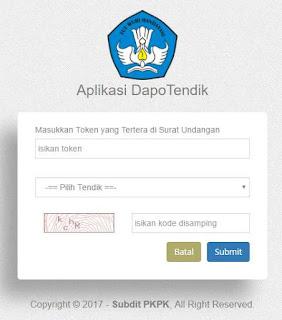 Registrasi Aplikasi Dapotendik