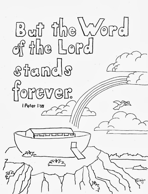 Coloring Pages for Kids by Mr. Adron: 1 Peter 1:25 Print