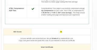 fakta bahwa skor dari tools online cek skor seo memilikinilai yang rendah dibandingkan dengan blog kecil pada umumnya