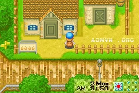 Harvest Moon AowVN.org m%2B%25283%2529 - [ GBA ] Harvest Moon Friend of Mineral Town + More Friend | Game Việt Hóa