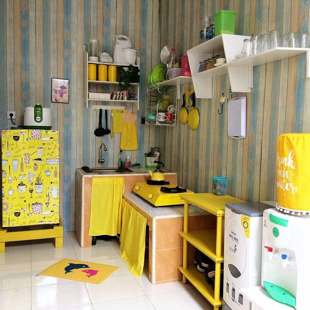 N Desain Foto Dapur Mungil Warna Kuning Co Untuk Rumah Minimalis Modern