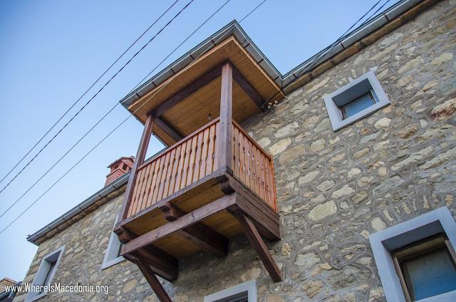 Traditional architecture in Ljubojno village, Prespa region, Macedonia